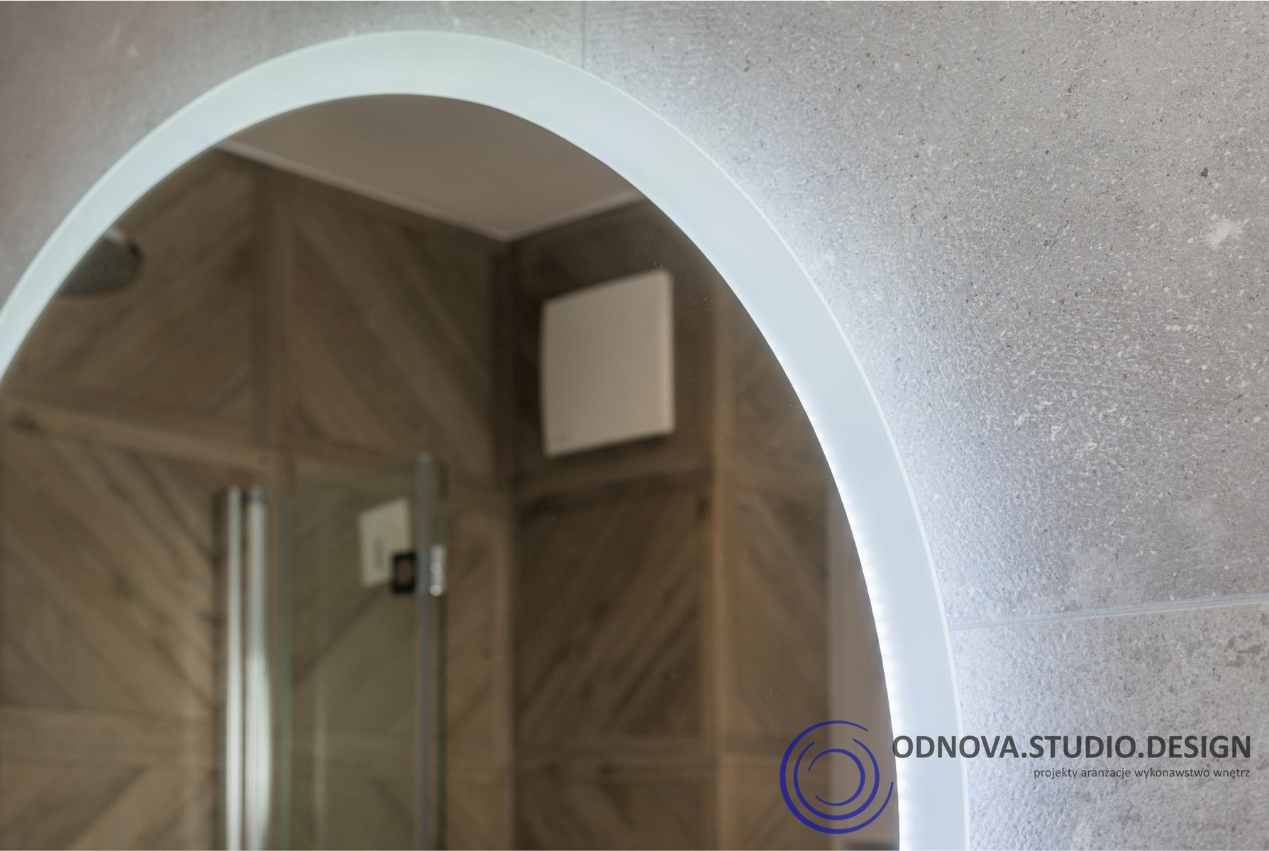 Łazienka - Podświetlane Lustro
